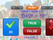 Minecraft Math Quiz