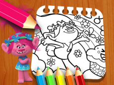 Les Trolls Coloring Book
