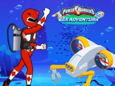 Save Power Rangers From Ocean Zombies - Pin Pull